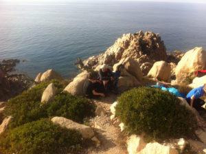 Pêche à pied du bord en Corse